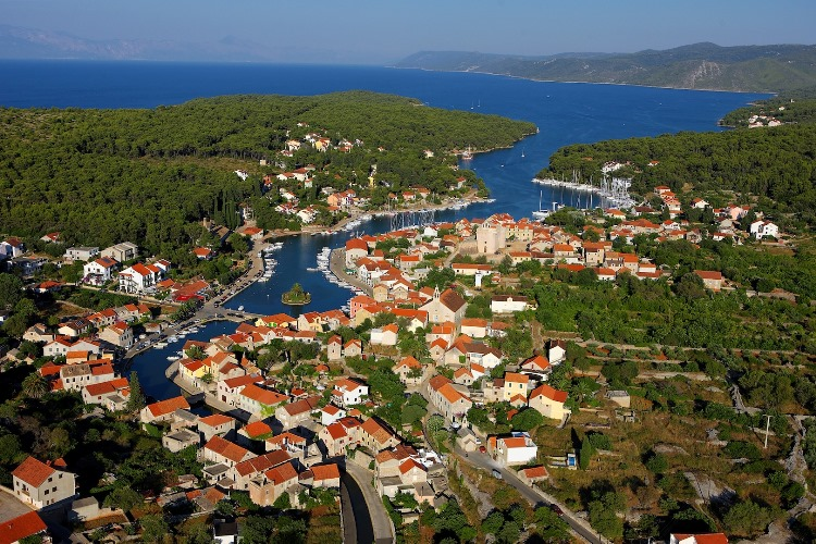 Vrboska from the air